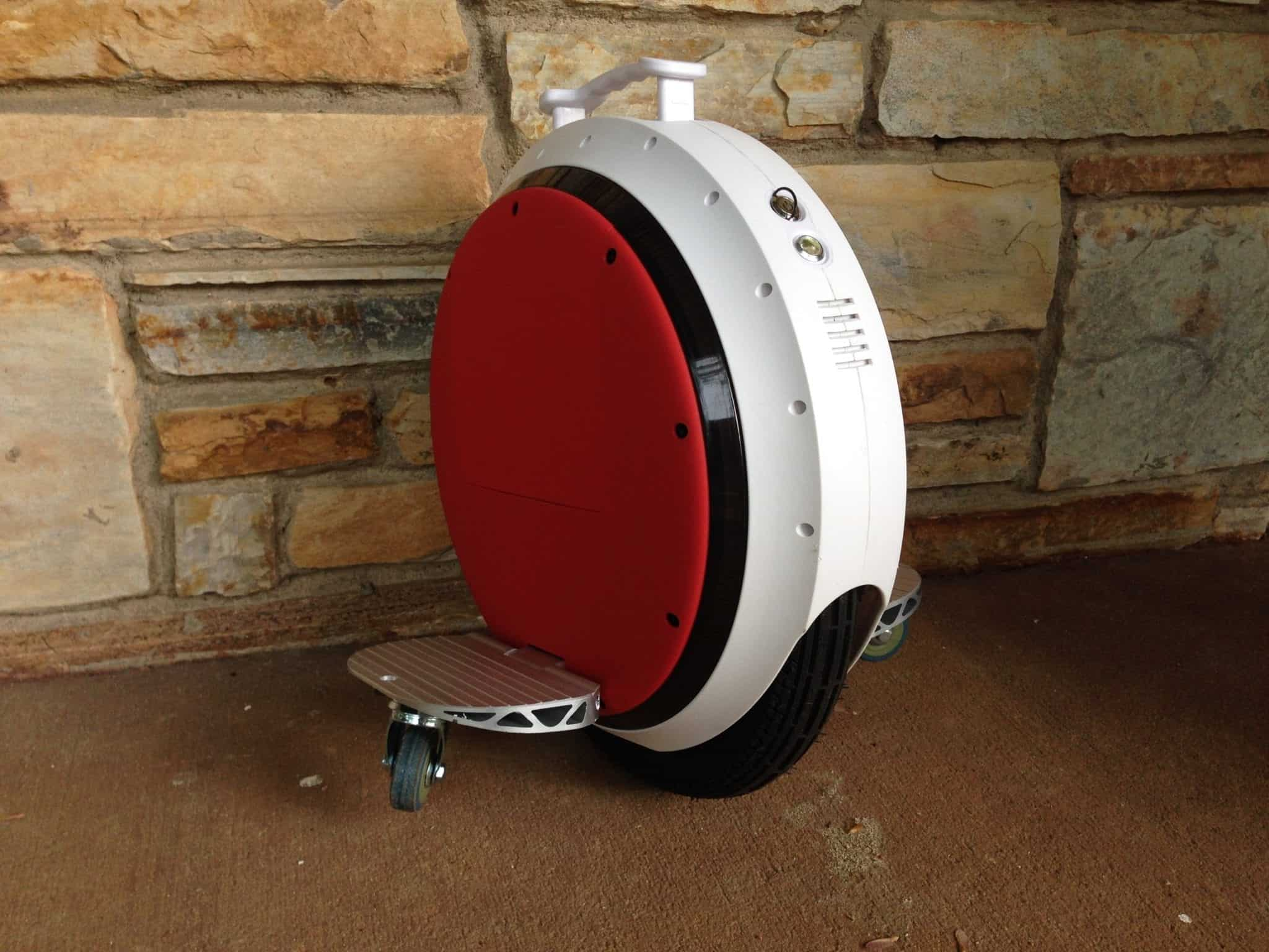red and white electric onewheel