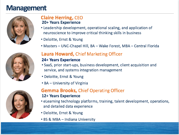 management overview for claire herring laura howard and gemma brooks
