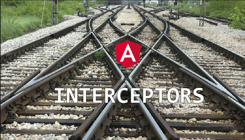 white interceptors text and a red shield with white letter a in front of a railroad track